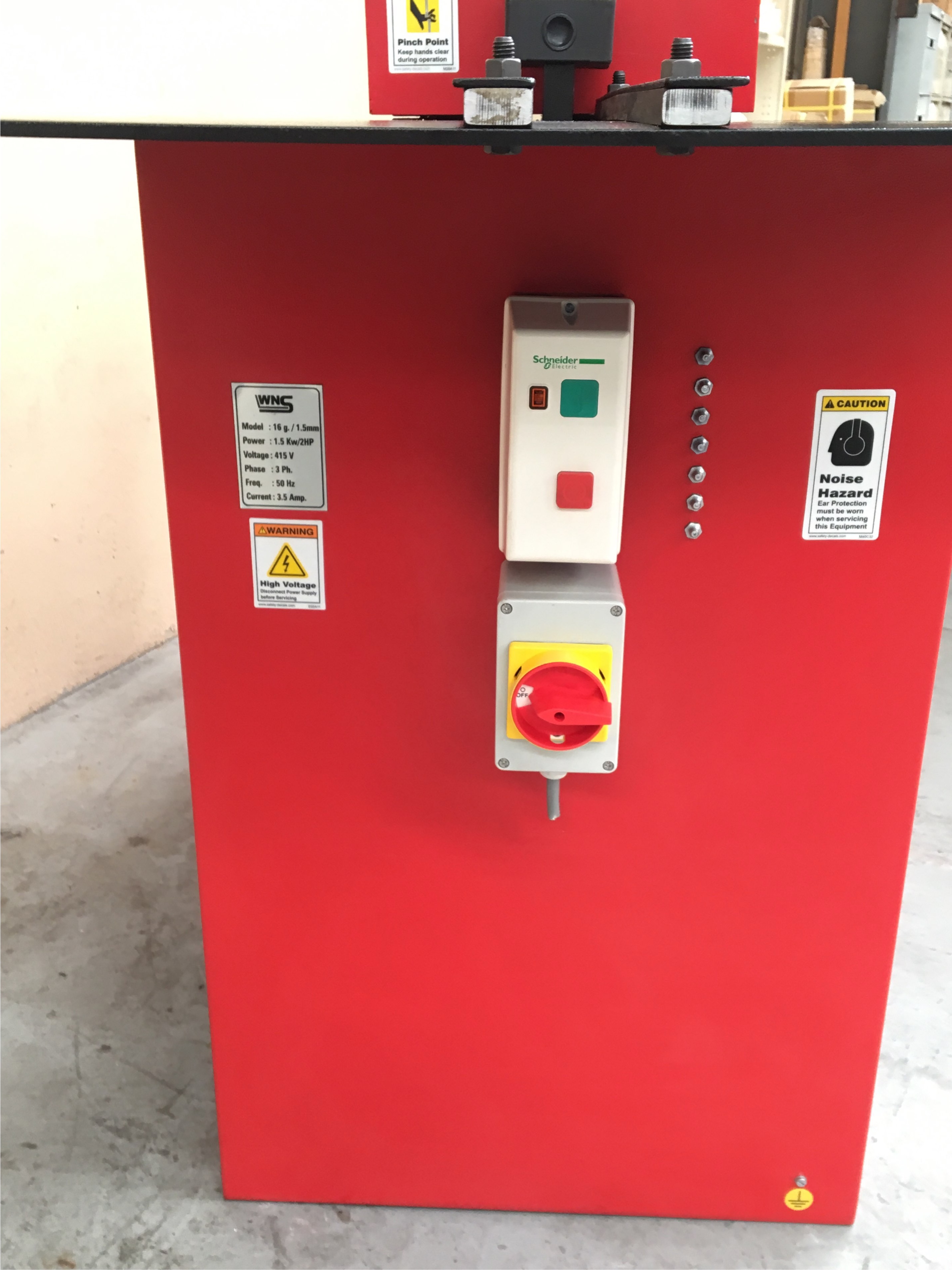 WNS RF16 Lockseamer Control Panel
